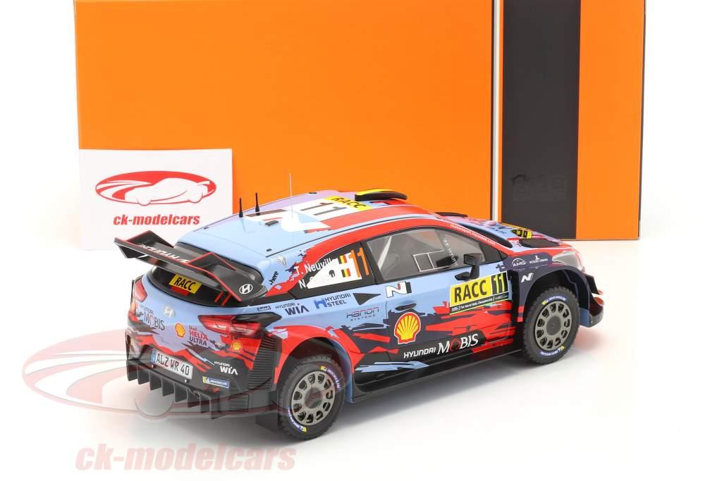 Hyundai i20 Coupe WRC #11 Gagnant Rallye Catalogne 2019 Neuville, Gilsoul 1:18 Ixo