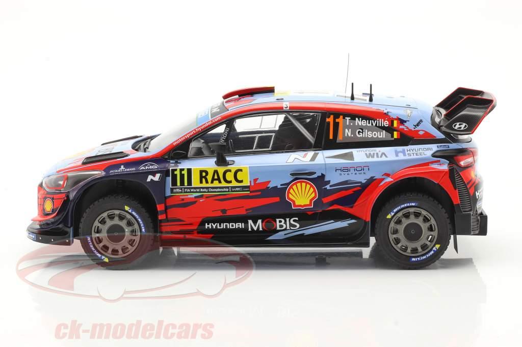 Hyundai i20 Coupe WRC #11 Vinder Rallye Catalunya 2019 Neuville, Gilsoul 1:18 Ixo