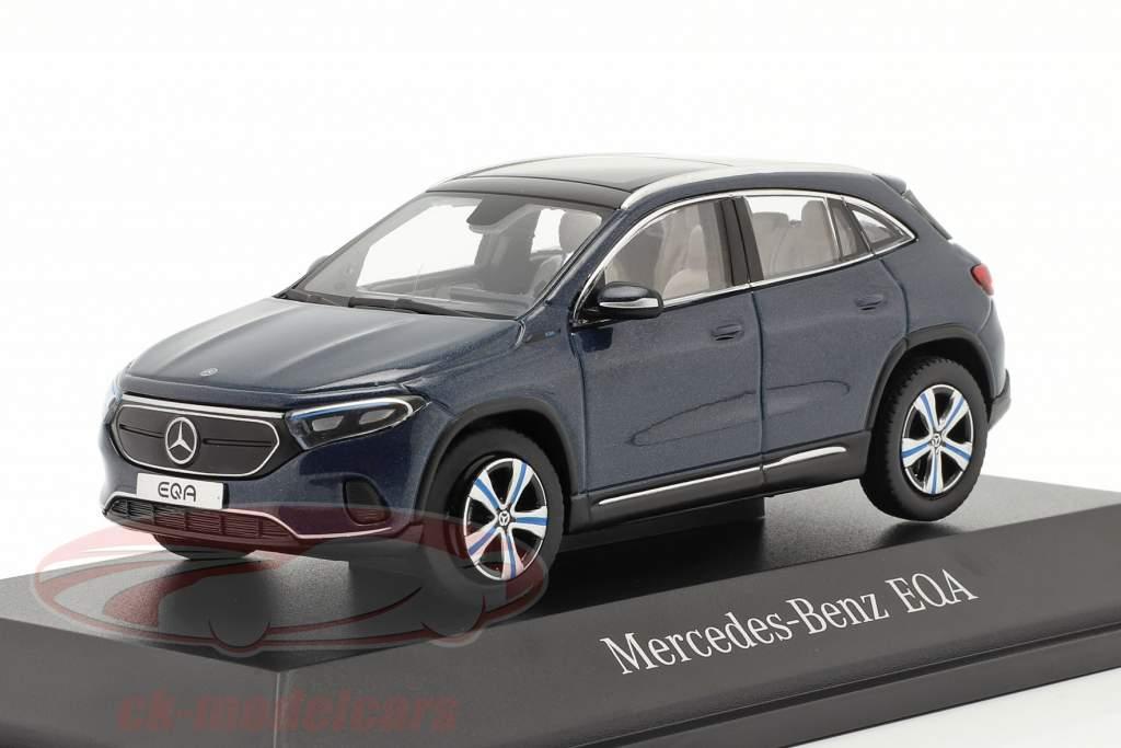 Mercedes-Benz EQA (H243) Construction year 2021 denim blue 1:43 Herpa