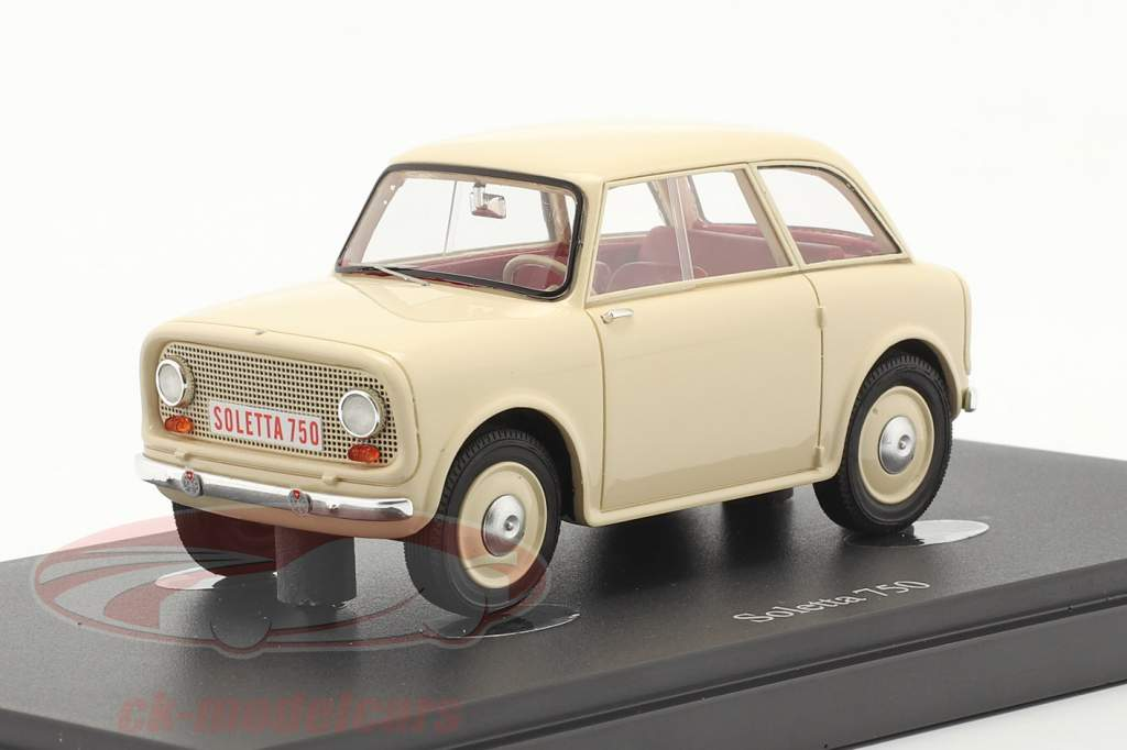 Soletta 750 Année de construction 1956 Ivoire 1:43 AutoCult