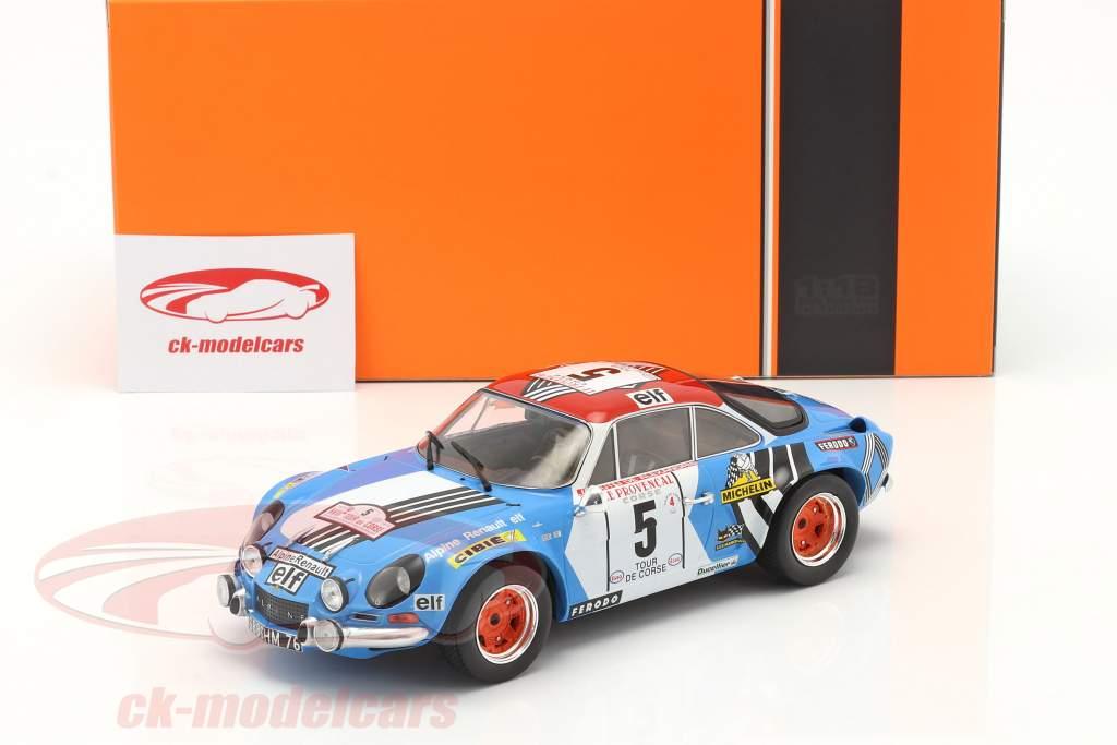 Alpine Renault A110 1800 #5 2. plads Rallye Tour de Corse 1973 1:18 Ixo