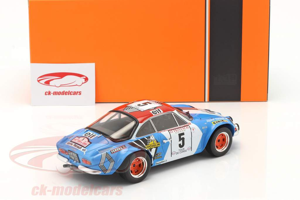 Alpine Renault A110 1800 #5 2e Rallye Tour de Corse 1973 1:18 Ixo