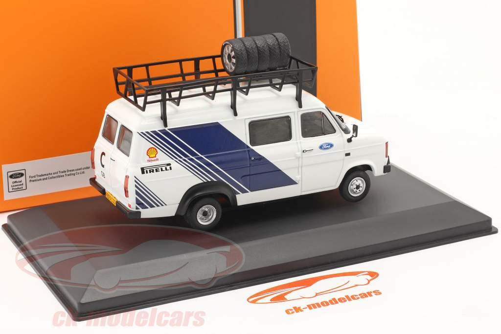 Ford Transit MK II furgão 1986 Rallye Assistance Ford Motorsport 1:43 Ixo