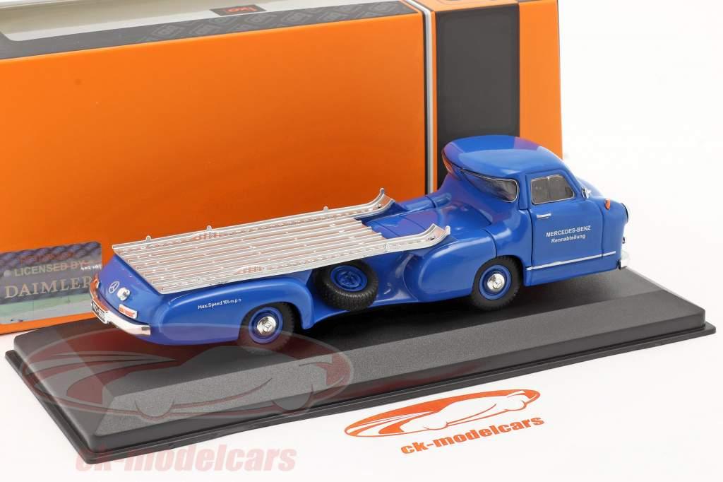Mercedes-Benz Race Car Transporter Il blu Meraviglia Anno di costruzione 1955 blu 1:43 Ixo