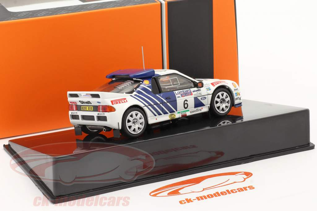 Ford RS200 #6 5. plads Lombard RAC Rallye 1986 Grundel, Melander 1:43 Ixo