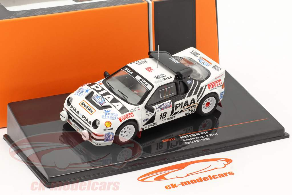Ford RS200 #18 Lombard RAC Rallye 1986 Andervang, West 1:43 Ixo