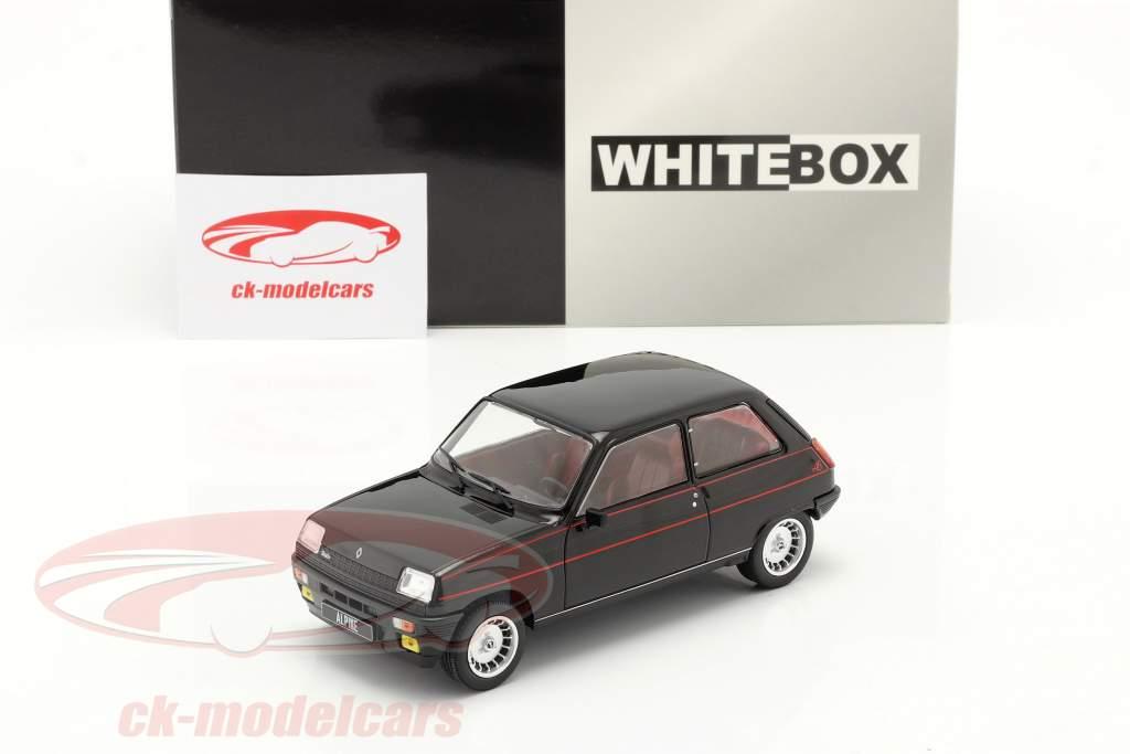 Renault 5 Alpine year 1982 black / red 1:24 WhiteBox