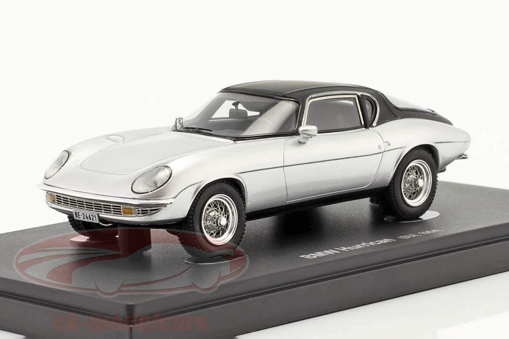 BMW Hurrican Baujahr 1964 silber / schwarz 1:43 AutoCult