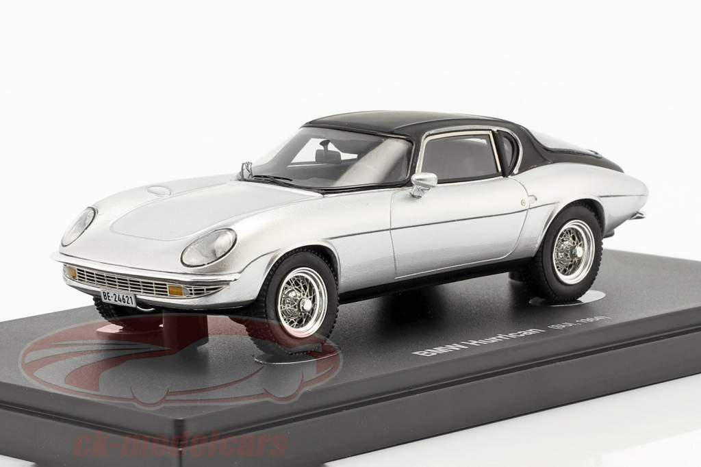 BMW Hurrican Byggeår 1964 sølv / sort 1:43 AutoCult