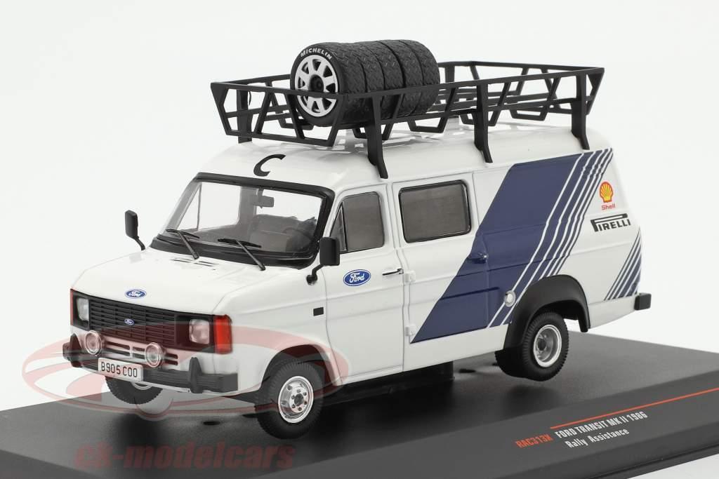 Ford Transit MK II camioneta 1986 Rallye Assistance Ford Motorsport 1:43 Ixo
