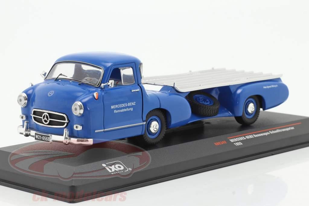 Mercedes-Benz Race Car Transporter le bleu merveille Année de construction 1955 bleu 1:43 Ixo