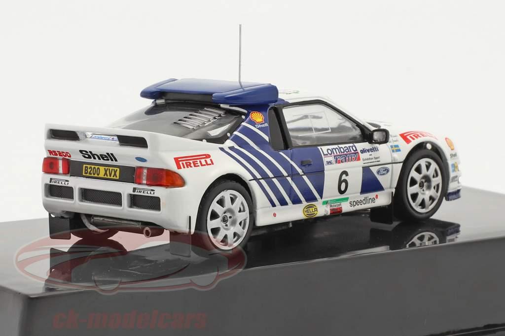 Ford RS200 #6 5 ª Lombard RAC Rallye 1986 Grundel, Melander 1:43 Ixo