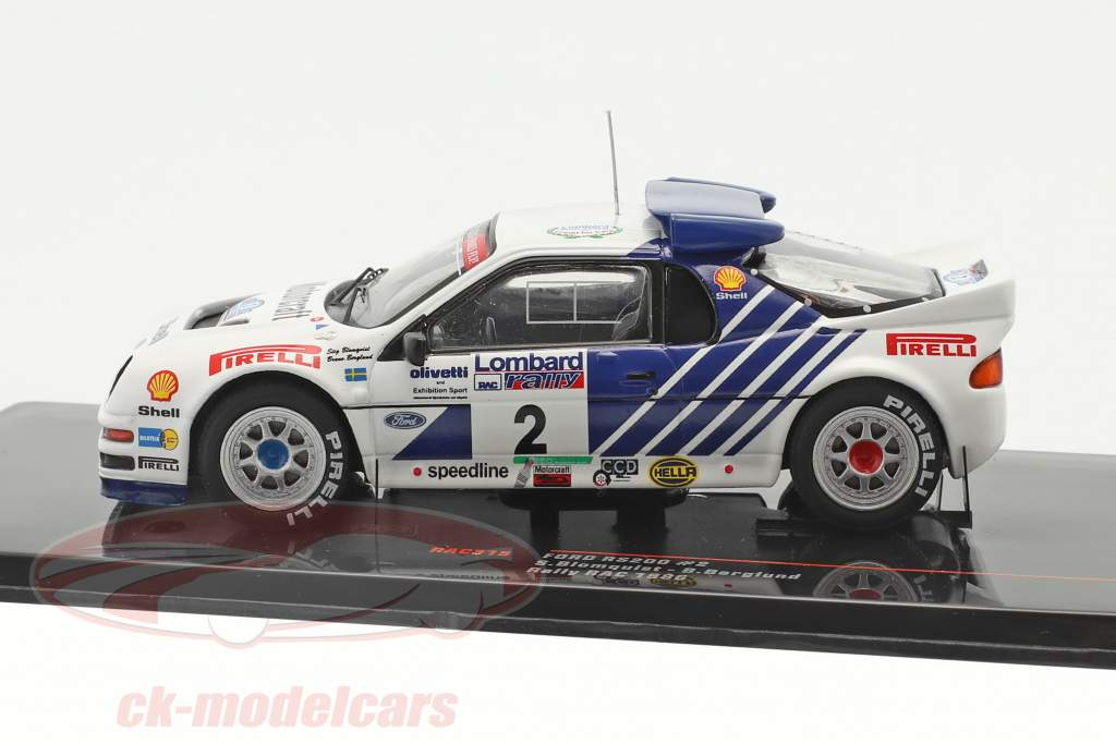 Ford RS200 #2 Lombard RAC Rallye 1986 Blomqvist, Berglund 1:43 Ixo