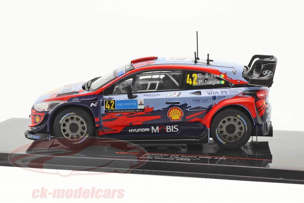 Hyundai i20 Coupe WRC #42 2do Rallye Estonia 2020 Breen, Nagle 1:43 Ixo