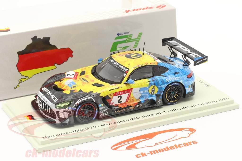 Mercedes-Benz AMG GT3 #2 9º 24h Nürburgring 2020 Mercedes-AMG Team HRT 1:43 Spark