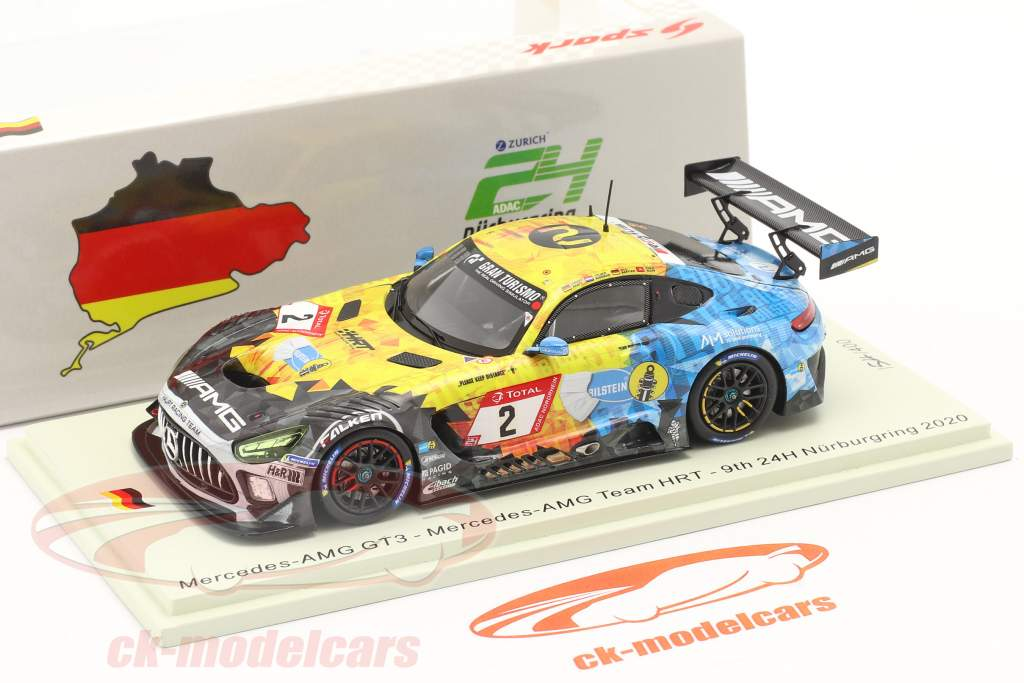 Mercedes-Benz AMG GT3 #2 9e 24h Nürburgring 2020 Mercedes-AMG Team HRT 1:43 Spark