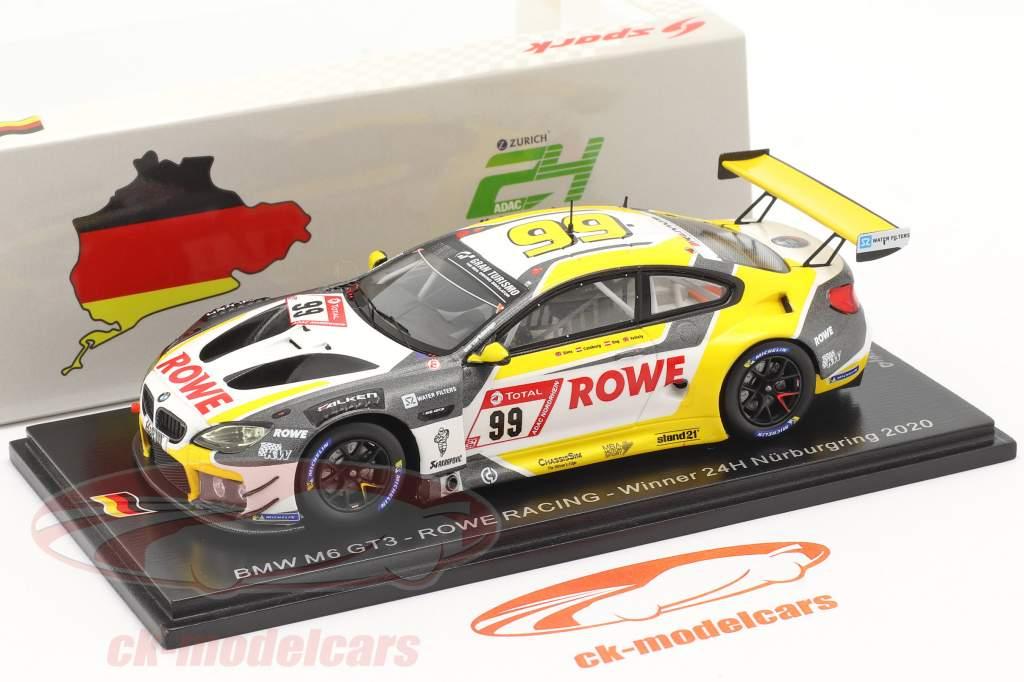 BMW M6 GT3 #99 优胜者 24h Nürburgring 2020 Rowe Racing 1:43 Spark
