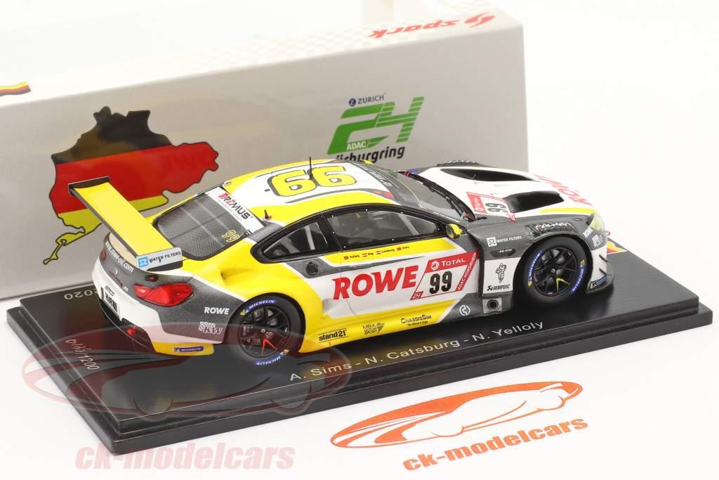 BMW M6 GT3 #99 winnaar 24h Nürburgring 2020 Rowe Racing 1:43 Spark