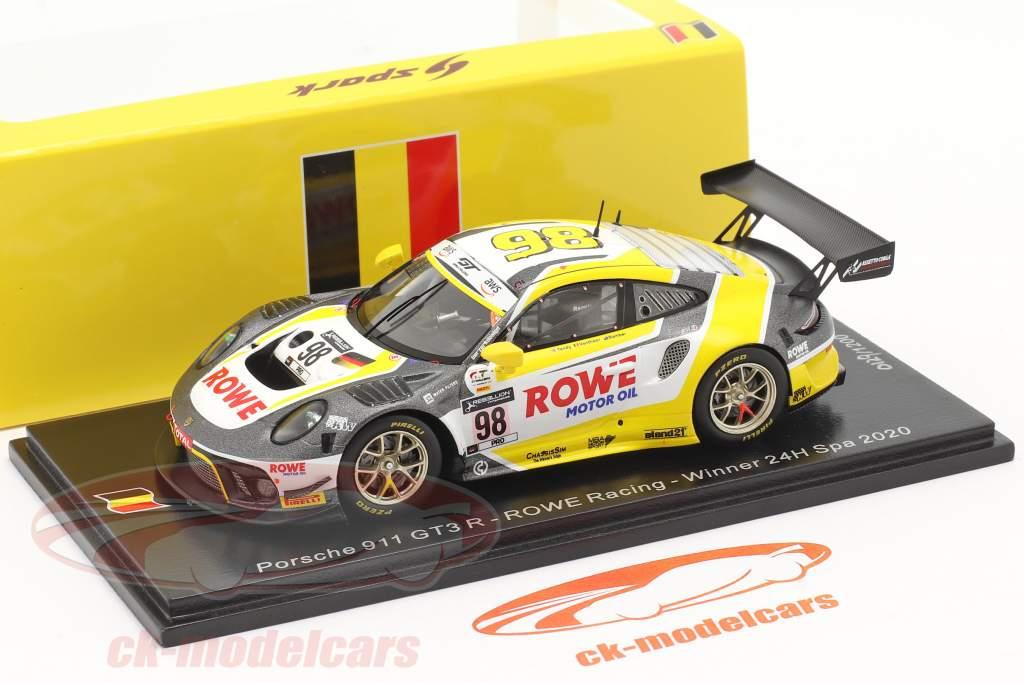 Porsche 911 GT3 R #98 winnaar 24h Spa 2020 Rowe Racing 1:43 Spark