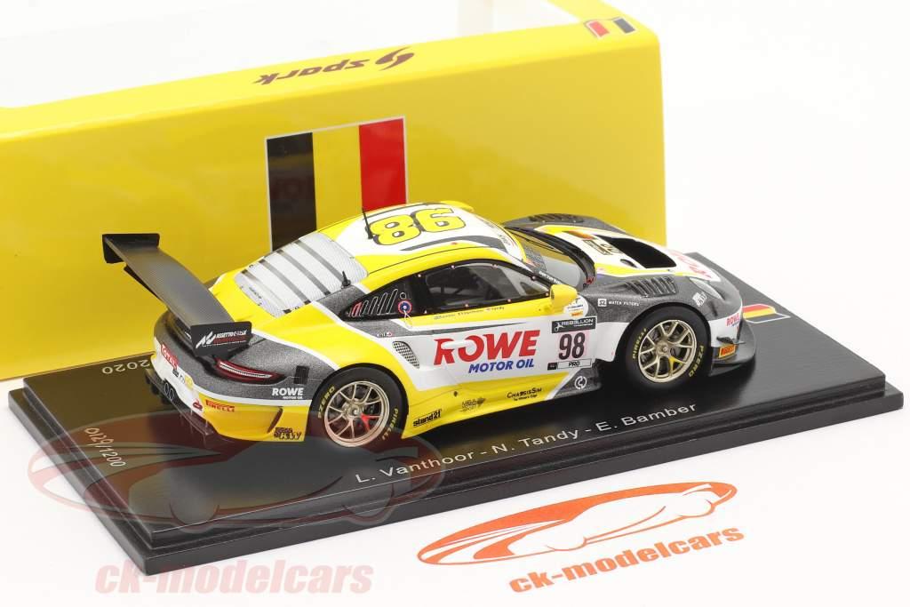 Porsche 911 GT3 R #98 vinder 24h Spa 2020 Rowe Racing 1:43 Spark