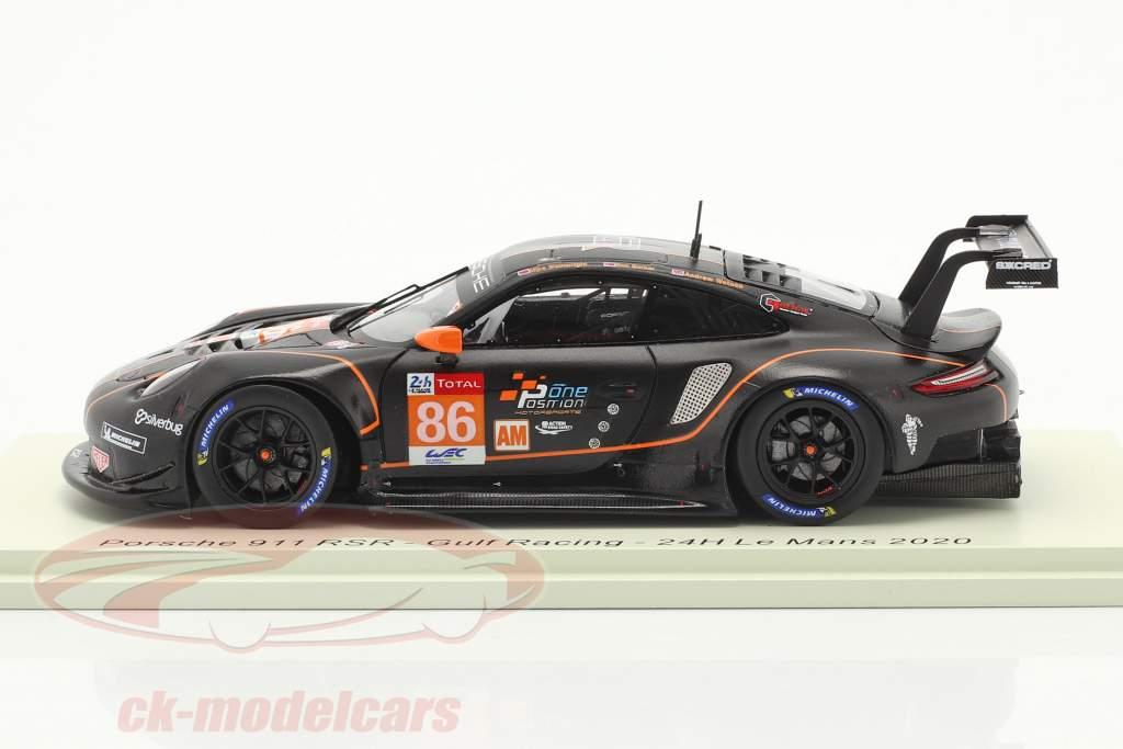 Porsche 911 RSR #86 24h LeMans 2020 Gulf Racing 1:43 Spark