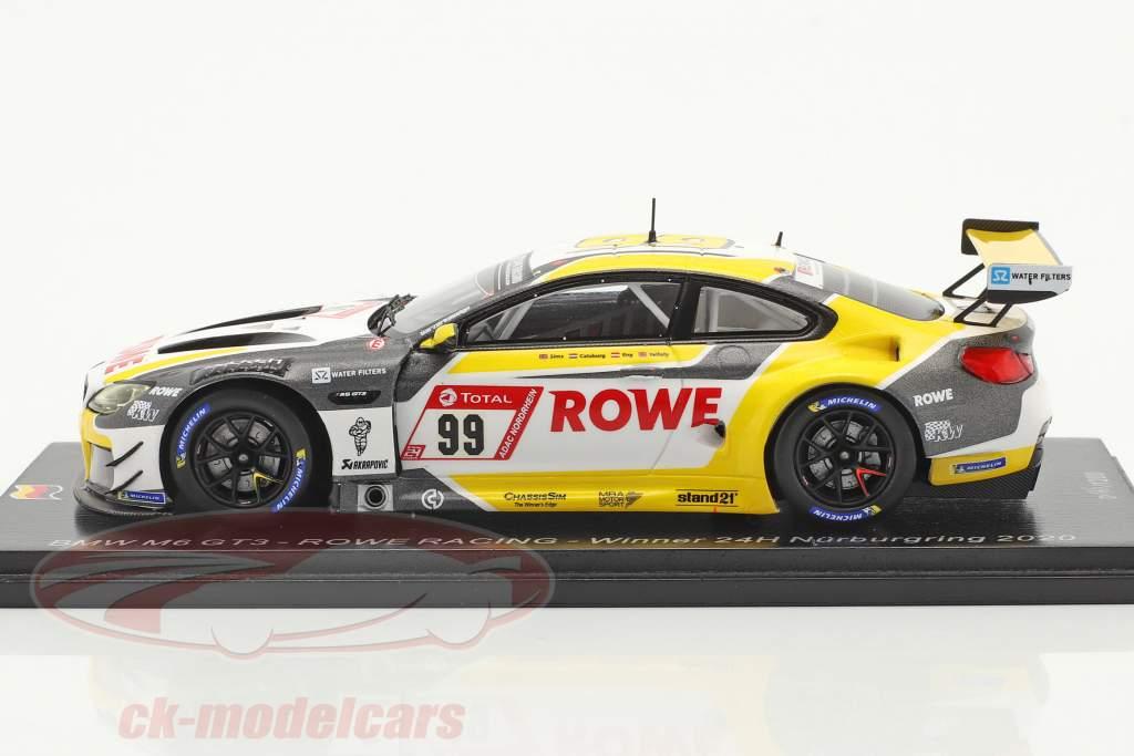 BMW M6 GT3 #99 vincitore 24h Nürburgring 2020 Rowe Racing 1:43 Spark
