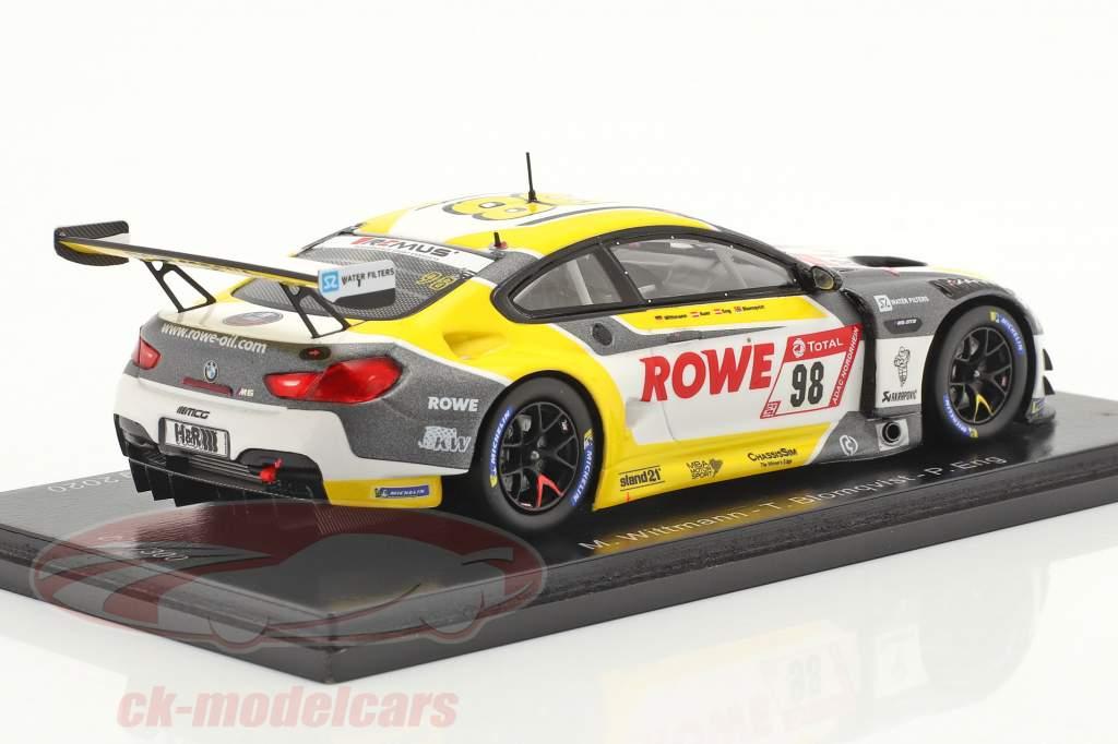 BMW M6 GT3 #98 4. plads 24h Nürburgring 2020 Rowe Racing 1:43 Spark