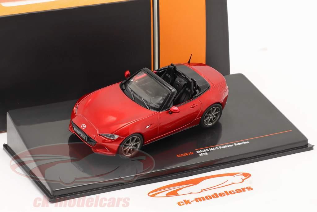 Mazda MX-5 Roadster Selection 2016 vermelho metálico 1:43 Ixo