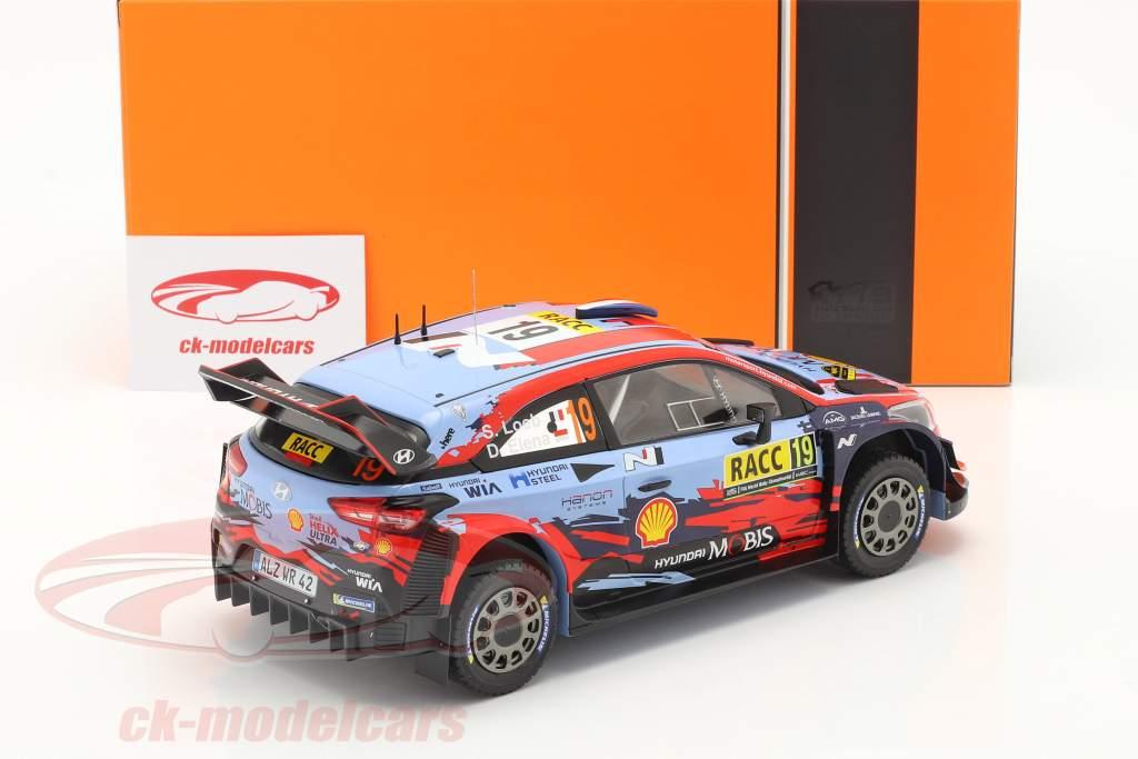 Hyundai i20 Coupe WRC #19 4. plads Rallye Catalunya 2019 Loeb, Elena 1:18 Ixo