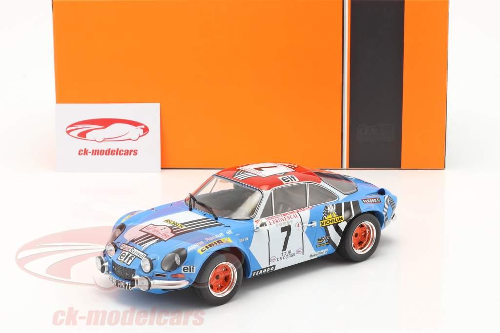 Alpine Renault A110 1800 #7 3ª Rallye Tour de Corse 1973 1:18 Ixo