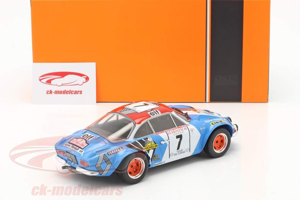 Alpine Renault A110 1800 #7 3rd Rallye Tour de Corse 1973 1:18 Ixo