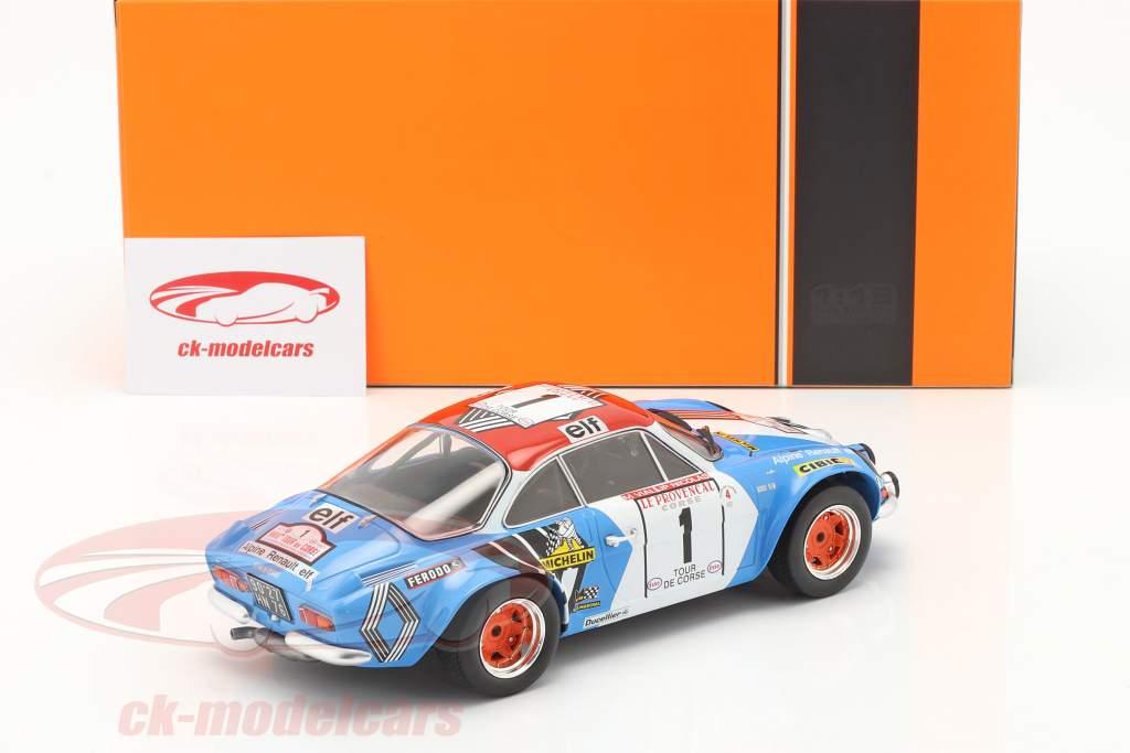 Alpine Renault A110 1800 #1 Gagnant Rallye Tour de Corse 1973 1:18 Ixo