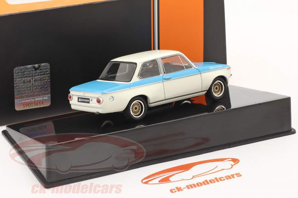 BMW Koepchen 2002 Tii Anno di costruzione 1974 bianca / blu 1:43 Ixo