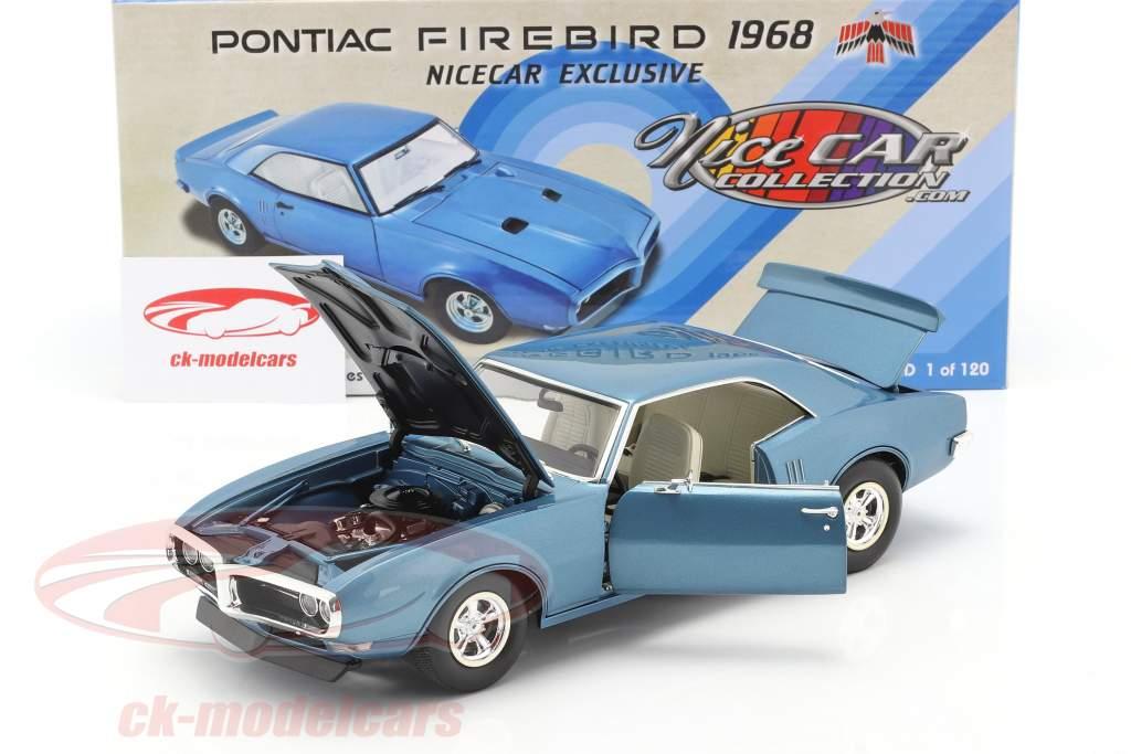 Pontiac Firebird Street Fighter Année de construction 1968 bleu luzerne 1:18 GMP