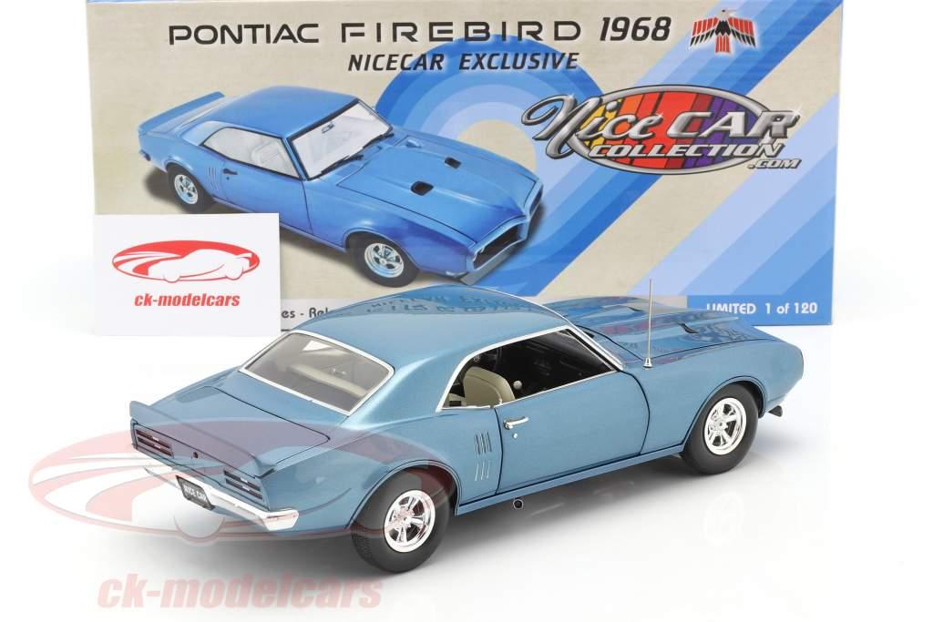 Pontiac Firebird Street Fighter year 1968 lucerne blue 1:18 GMP
