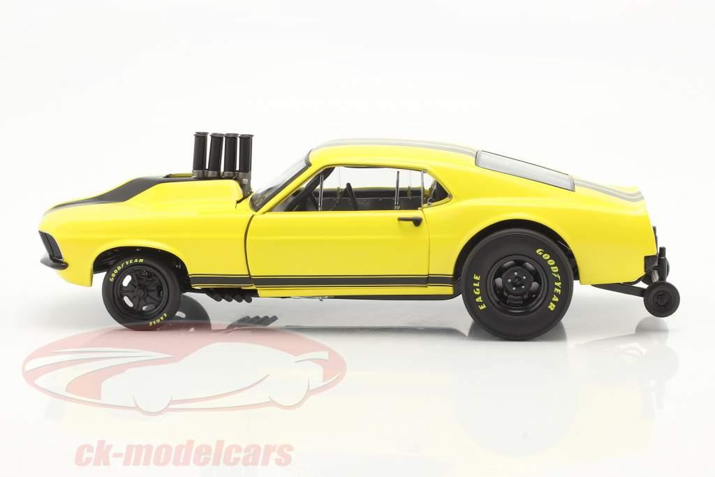 Ford Mustang Gasser Stinger 1969 amarelo / Preto 1:18 GMP