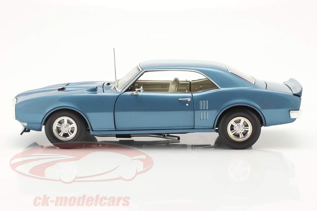 Pontiac Firebird Street Fighter Byggeår 1968 lucerne blå 1:18 GMP