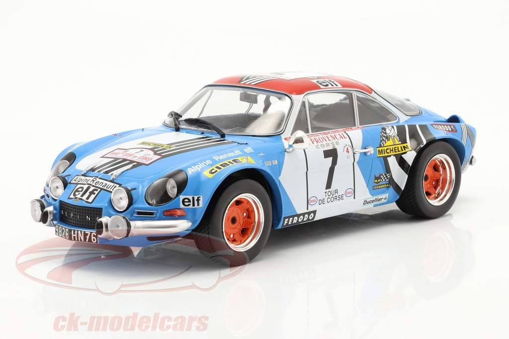 Alpine Renault A110 1800 #7 Tercero Rallye Tour de Corse 1973 1:18 Ixo