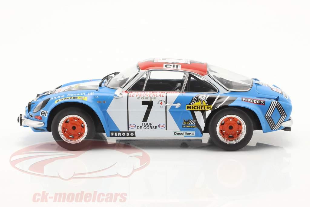 Alpine Renault A110 1800 #7 3e Rallye Tour de Corse 1973 1:18 Ixo