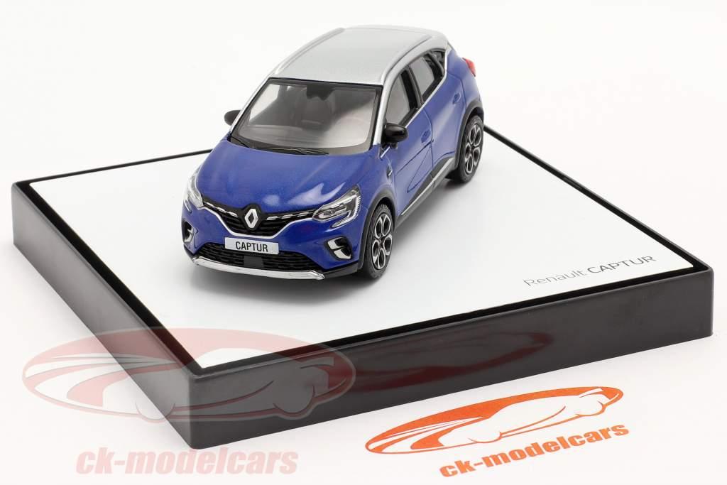Renault Captur Anno di costruzione 2020 blu / grigio argento 1:43 Norev