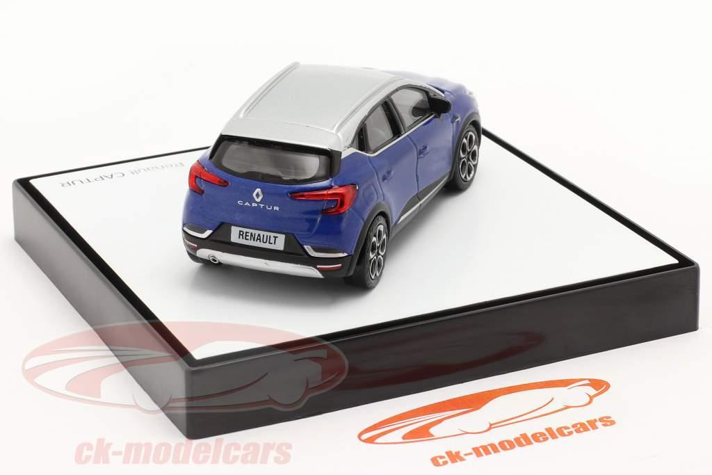 Renault Captur bouwjaar 2020 blauw / Zilver grijs 1:43 Norev