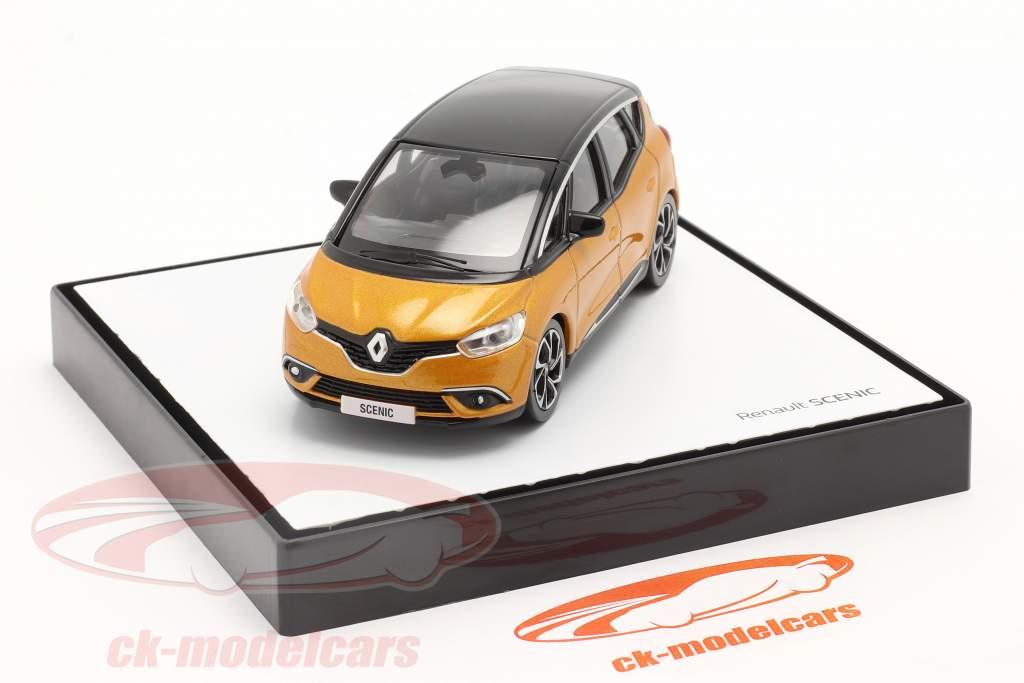 Renault Scenic Generacion 4 Año de construcción 2016 taklamakan naranja / negro 1:43 Norev