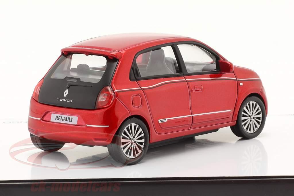 Renault Twingo generation 3 Facelift 2019 flamme rød 1:43 Norev
