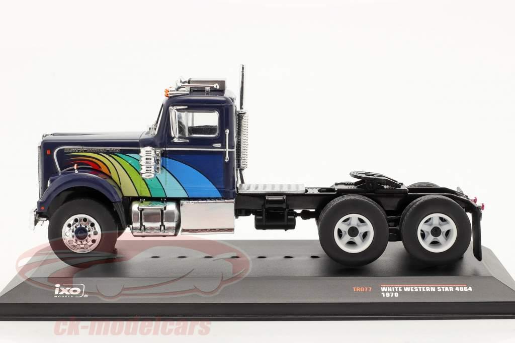 White Western Star 4864 Camión 1970 azul oscuro 1:43 Ixo