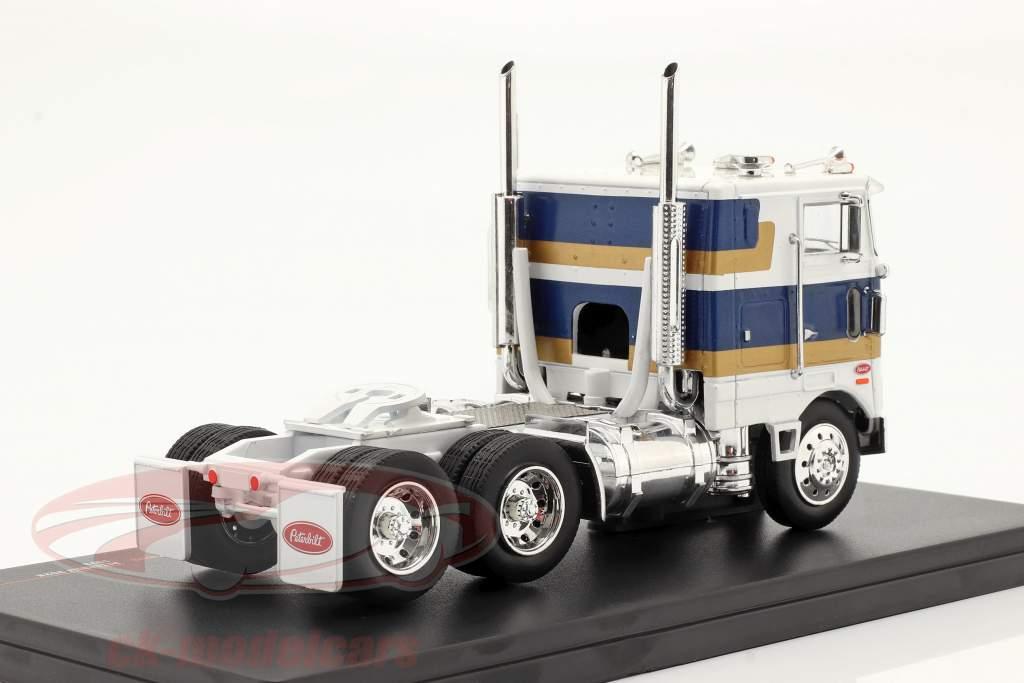 Peterbilt 352 H Camion 1979 bianca / blu / oro 1:43 Ixo