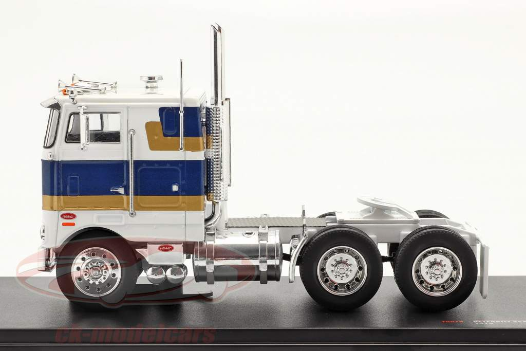 Peterbilt 352 H Camion 1979 blanc / bleu / or 1:43 Ixo