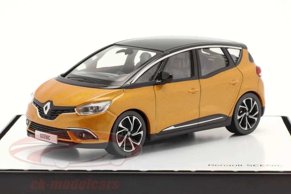 Renault Scenic generation 4 year 2016 taklamakan orange / black 1:43 Norev