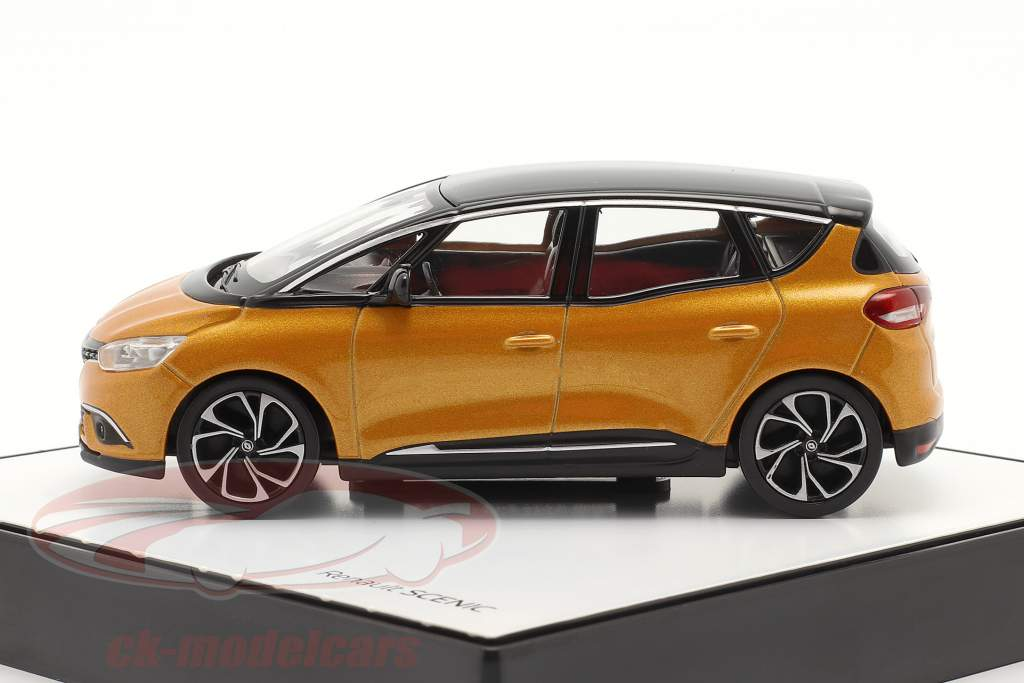 Renault Scenic generatie 4 bouwjaar 2016 taklamakan oranje / zwart 1:43 Norev