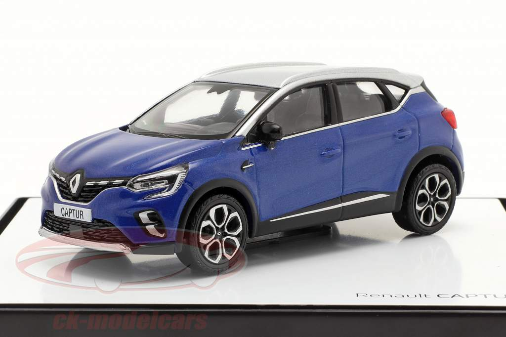 Renault Captur Ano de construção 2020 azul / cinza prateado 1:43 Norev