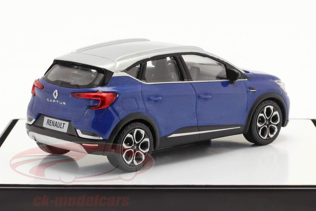 Renault Captur Baujahr 2020 blau / silbergrau 1:43 Norev